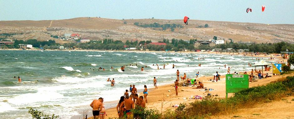 Пляж курорта Щелкино в Крыму, фото 1